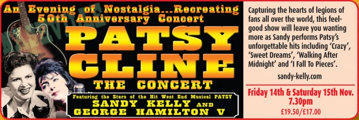 Sandy Kelly is Patsy Cline: 50th Anniversary Tour - CLICK FOR MORE INFO!