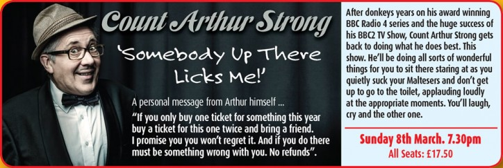 Count Arthur Strong: Somebody Up There Licks Me - CLICK FOR MORE INFO!