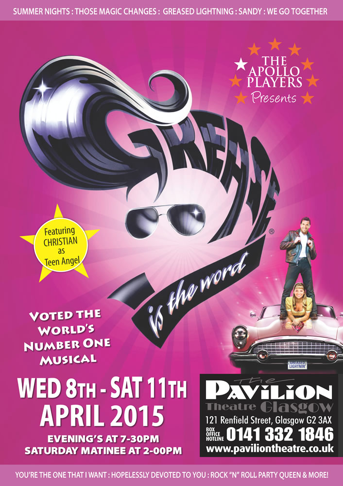 The Apollo Players: Grease - CLICK FOR MORE INFO!