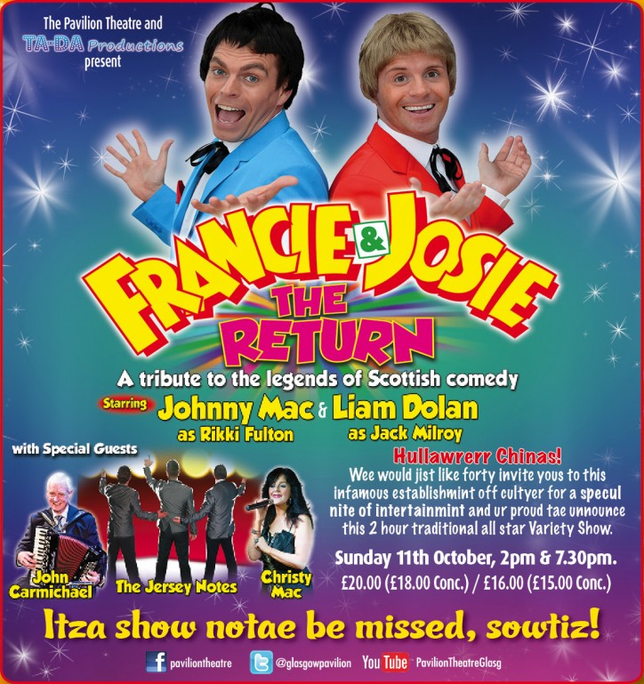 The Return of Francie & Josie - CLICK FOR MORE INFO!