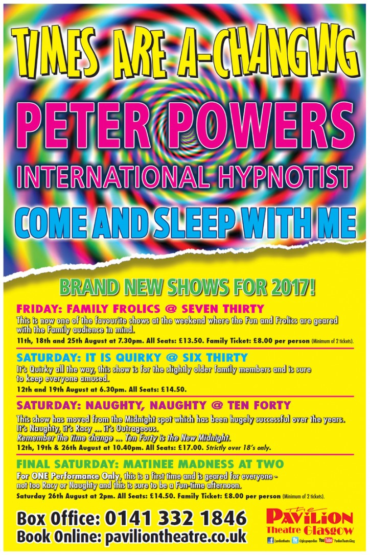 Peter Powers: Times Are A Changing - CLICK FOR MORE INFO!