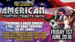 Legends of American Country Tribute Show at the Pavilion Theatre, Glasgow